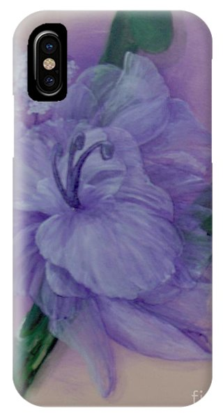 IPhone Case featuring the painting Delicacy by Saundra Johnson