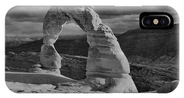 Delicate Arch Black And White Sunset Shadow IPhone Case