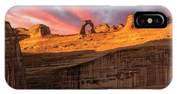 IPhone Case featuring the photograph Delicate Arch   by Expressive Landscapes Fine Art Photography by Thom