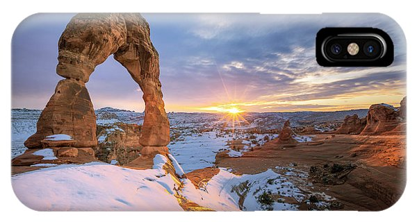 Delicate Arch Winter IPhone Case