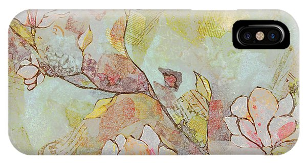Bloom iPhone Case - Delicate Magnolias by Shadia Derbyshire