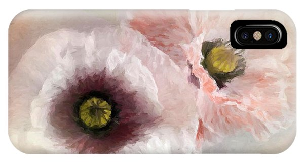 Delicate Pastel Poppies IPhone Case