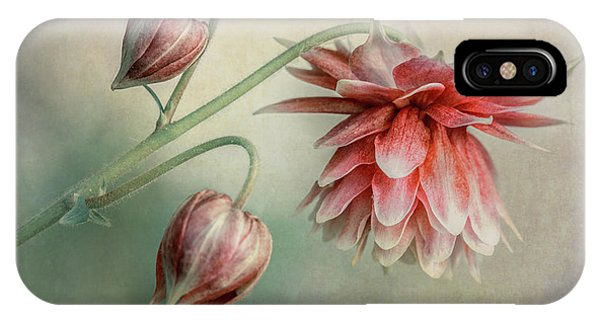 Delicate Red Columbine IPhone Case