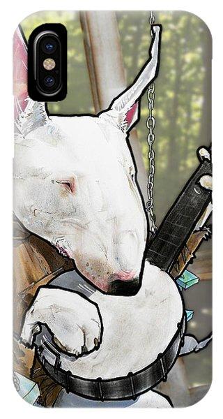 Deliverance Bull Terrier Caricature Art Print IPhone Case