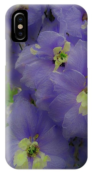 Delphinium Blues IPhone Case