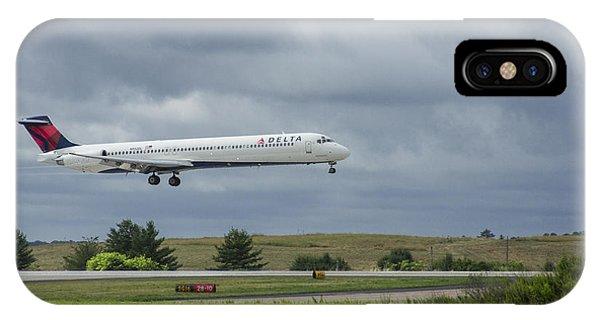 Alitalia iPhone Case - Delta Airlines Mcdonnell Douglas Aircraft N952dl Hartsfield-jackson Atlanta International Airport by Reid Callaway