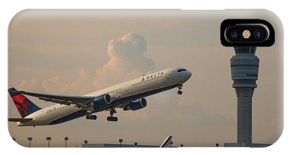 Alitalia iPhone Case - Delta Airlines Boeing 767 432 Er Hartsfield Jackson Atlanta International Airport Art by Reid Callaway