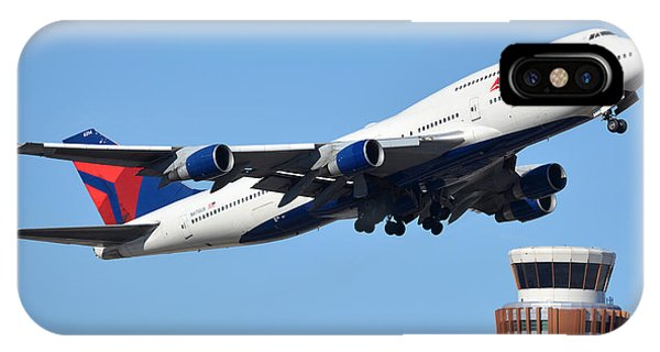 Delta Boeing 747-451 N674us Phoenix Sky Harbor January 12 2015 IPhone Case