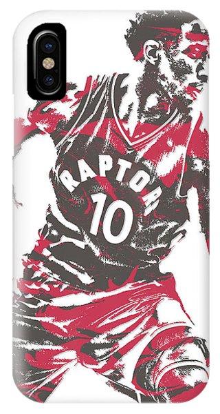 Tickets iPhone Case - Demar Derozan Toronto Raptors Pixel Art 6 by Joe Hamilton