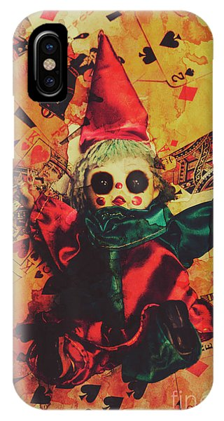 Magician iPhone Case - Demonic Possessed Joker Doll by Jorgo Photography - Wall Art Gallery