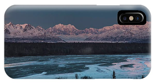 Super Moon iPhone Case - Denali Morning Blue by Ed Boudreau