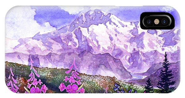 Denali With Fireweed IPhone Case