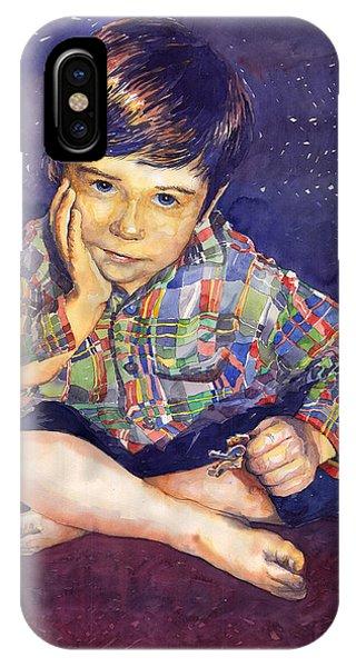 Portret iPhone Case - Denis 01 by Yuriy Shevchuk