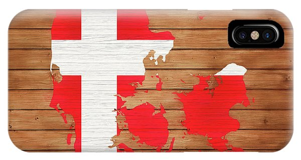 Traveler iPhone Case - Denmark Rustic Map On Wood by Dan Sproul
