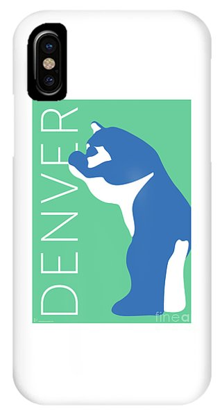 Denver Blue Bear/aqua IPhone Case