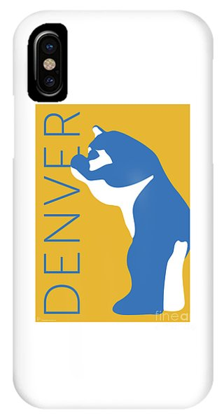 Denver Blue Bear/gold IPhone Case