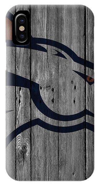 Denver Broncos Wood Fence IPhone Case