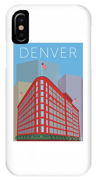 Denver Brown Palace/blue IPhone Case