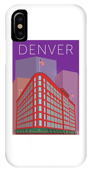 Denver Brown Palace/purple IPhone Case