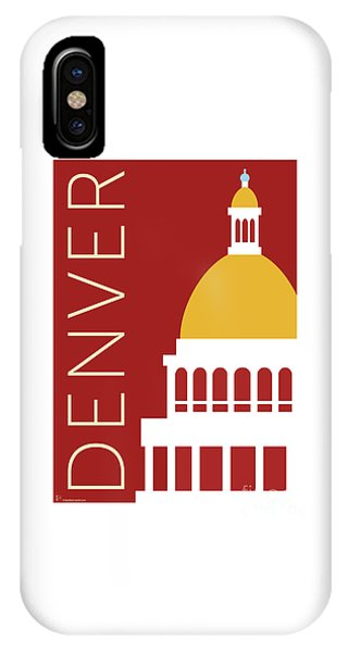 Denver Capitol/maroon IPhone Case