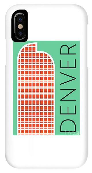 Denver Cash Register Bldg/aqua IPhone Case