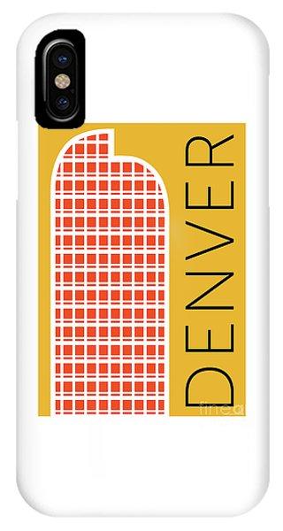 Denver Cash Register Bldg/gold IPhone Case