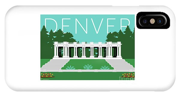 Denver Cheesman Park/lt Blue IPhone Case