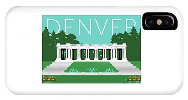 IPhone Case featuring the digital art Denver Cheesman Park/lt Blue by Sam Brennan
