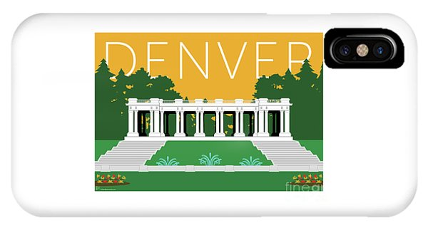 Denver Cheesman Park/gold IPhone Case