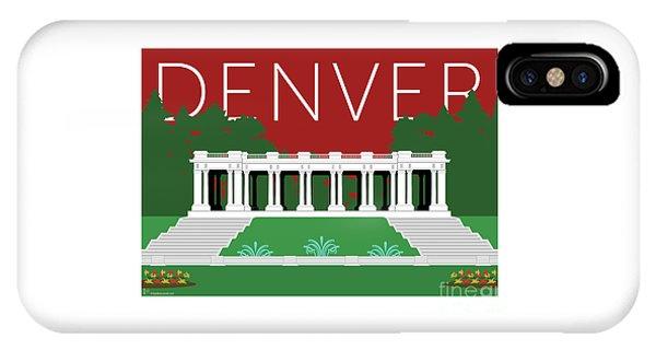IPhone Case featuring the digital art Denver Cheesman Park/maroon by Sam Brennan