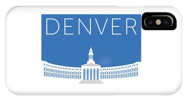 Denver City And County Bldg/blue IPhone Case