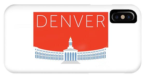IPhone Case featuring the digital art Denver City And County Bldg/orange by Sam Brennan