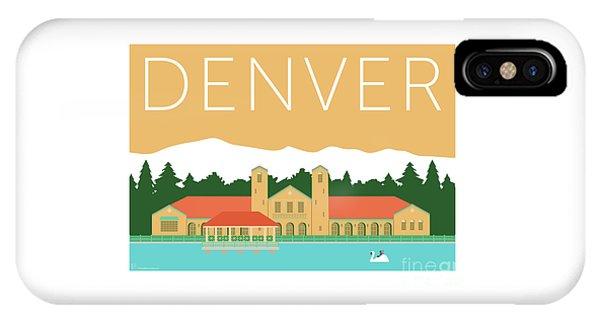 IPhone Case featuring the digital art Denver City Park/adobe by Sam Brennan