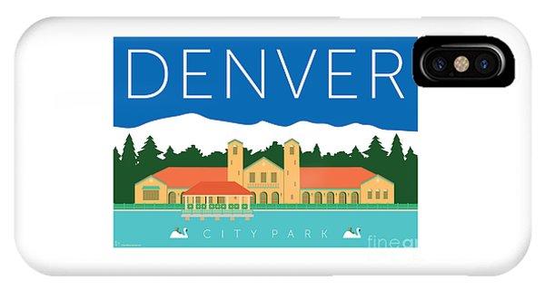 IPhone Case featuring the digital art Denver City Park by Sam Brennan
