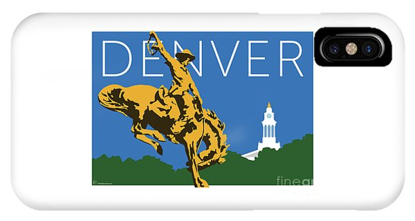 Denver Cowboy/dark Blue IPhone Case