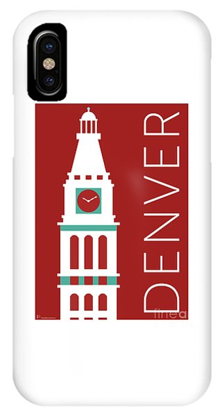 Denver D And F Tower/maroon IPhone Case