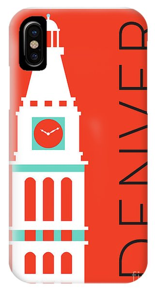 Denver D And F Tower/orange IPhone Case