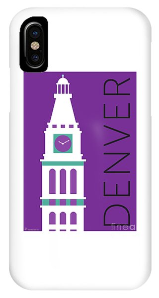 Denver D And F Tower/purple IPhone Case