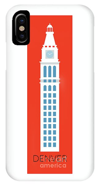IPhone Case featuring the digital art Denver D And F Tower/tall by Sam Brennan