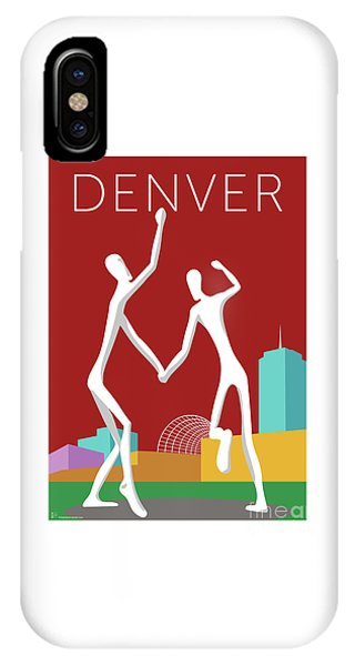 Denver Dancers/maroon IPhone Case