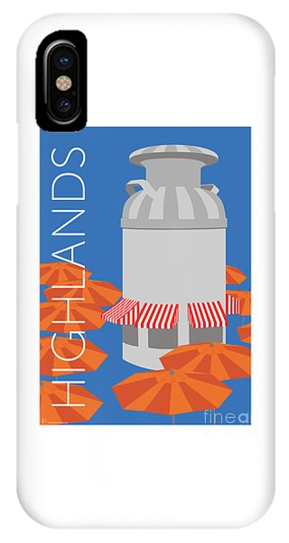 Denver Highlands/blue IPhone Case