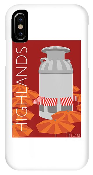Denver Highlands/maroon IPhone Case