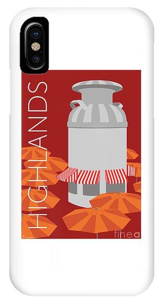 IPhone Case featuring the digital art Denver Highlands/maroon by Sam Brennan