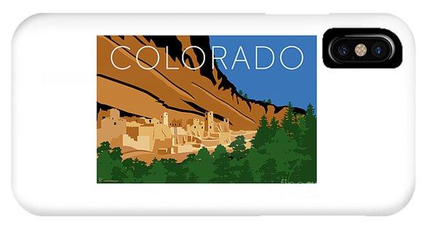 IPhone Case featuring the digital art Mesa Verde Blue by Sam Brennan