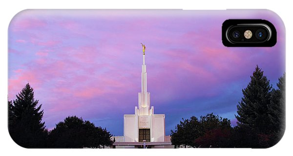 Denver Lds Temple At Sunrise IPhone Case