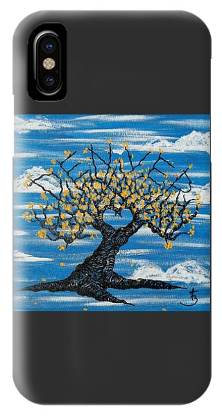 IPhone Case featuring the drawing Denver Love Tree by Aaron Bombalicki