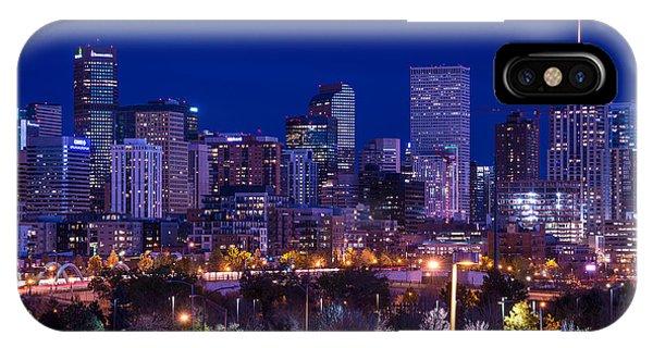Denver Skyline At Night - Colorado IPhone Case