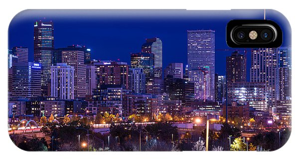 Denver Skyline At Night - Colorado IPhone Case