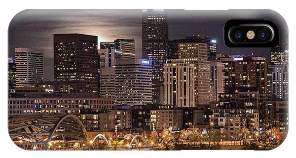 Denver Skyline At Night IPhone Case