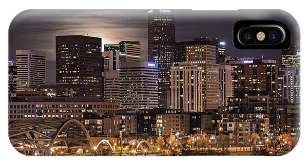 Denver Skyline At Night IPhone Case